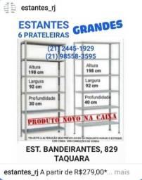 Estante GRANDE c/ 6 Prateleiras Reforçadas e Reguláveis NOVA NA CAIXA - Linha Premium