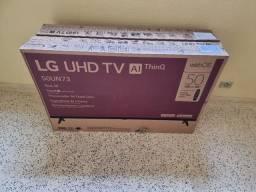 Título do anúncio: Smart TV LG UHD 4k 50 pol UN7310, Nova, NF