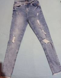 Título do anúncio: Calça feminina jeans com laycra. N° 38 pequeno.
