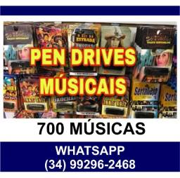 Título do anúncio: Pendrive Gravado com 700 Músicas - Consulte os Ritmos