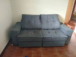 Sofá cinza escuro reclinável