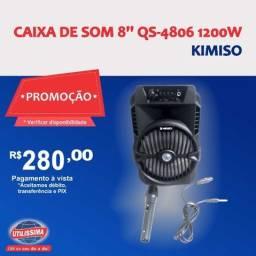Caixa de som Kimiso 8'' QS-4806 1200w ? Entrega grátis