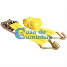 Kit Cinta 9 Metros + Catraca + Gancho 10.000kg - P/ Caminhão