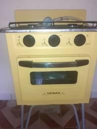 Fogão 2 bocas forno tudo funcionando perfeitamente vai cm regulador de gás