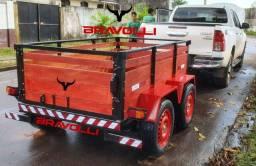 Título do anúncio: Carretinha BRAVOLLI ' AC - Linha GM-1.4 e BX-1.5 em até 12x com 3 anos garantia reboque