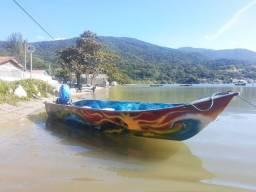 Barco Fibra, motor 15hp e Carreta