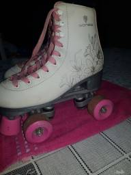 Título do anúncio: Patins Gonew Rosa completo