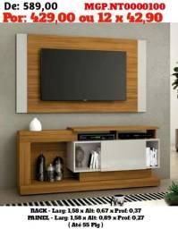 Rack e Painel de televisão até 55 Plg - Selo de Confiança- Novo Na Caixa