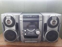 Título do anúncio: Rádio sony MHC-DZ7 3 CD space