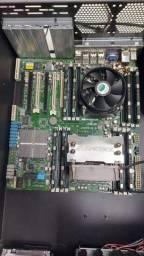 Placa e 2 processadores Xeon