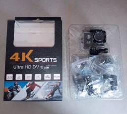 Título do anúncio: Câmera Go Ultra Full Hd 4k Sport A Prova D'água ( Com cartão de memória de 16 GB)