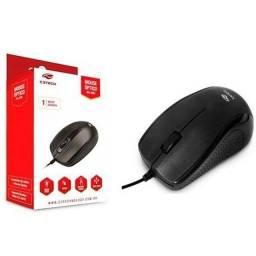 . Mouse C3Tech MS-26BK Preto USB Cabo 195cm.