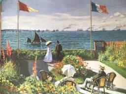 Gravura Reprodução Monet O Jardim em Sainte-Adresse
