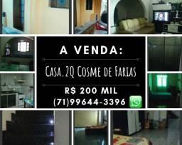 Casa 2Q suíte e garagem Cosme de Farias