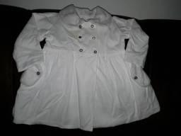 Vestido branco batizado tamanho 4 meses