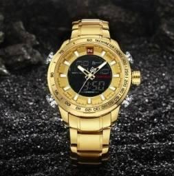 6e38789262e Relógio Naviforce Prova D água 30m Aço Inox
