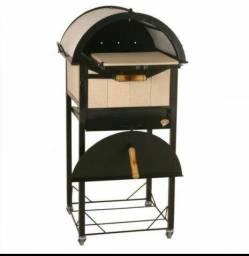 Churrasqueira a carvão e Forno de Pizza/Churrasqueira Portátil (usada)