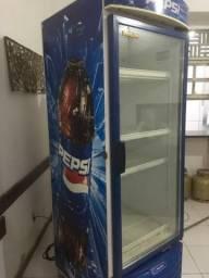 Conservadora porta de vidro metal frio