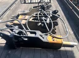 Rompedor Hidráulico 335 kg de peso operacional com ponteiro de 75mm p/ Retroescavadeira