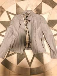 Jaqueta corino cinza