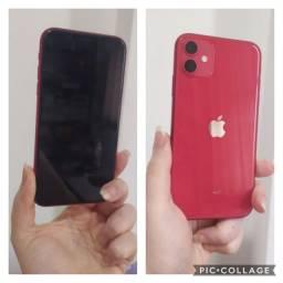 iPhone 11 NOVO vermelho apple 64gb com NF