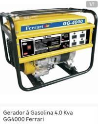 Gerador à Gasolina 4.0 Kva GG4000 Ferrari