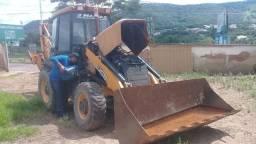 Retro escavadeira jcb traçada gabinada ano 2012