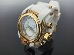 Relógio masculino invicta Magnum pulseira branca
