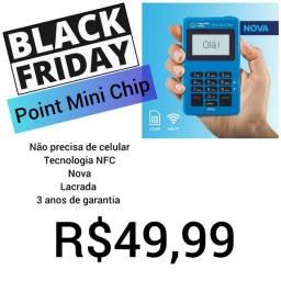Point Mini Chip (não precisa de celular) maquininha de cartão do Mercado Pago