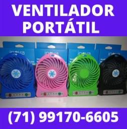 Mini ventilador - Ventilador Portátil FAN-8244 Bateria e USB 3 velocidades