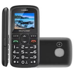 Celular Vita Multilaser Dual Chip Bluetooth Tela 1,8 Pol. + Base Carregadora Preto - P9089