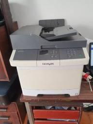 Impressora Lexmark CX310dn, multi-funcional a laser colorida