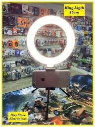 Led Ring Light 16cm Com Suporte Mesa