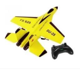 Avião Jato Bi-motor Rc Controle Remoto Fx820 Su-35 Cessna