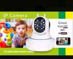 Camera Baba Eletronica Ip Sem Fio Wifi Hd Sensor de Movimento Yoose Cartao 32gb