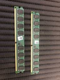 Par de memórias RAM ddr2 2gb