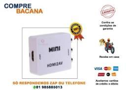 Título do anúncio: Mini conversor Hdmi para RCA