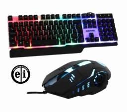 Título do anúncio: Combo Kit Gamer 3 em 1 Teclado Mouse Mousepad Durawell-Entrega Grátis
