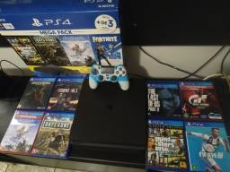 PS4 1 terá + 8 jogos mídia física
