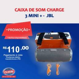 Caixa de Som Portátil Bluetooh Charge 3 Mini +  ? Entrega grátis