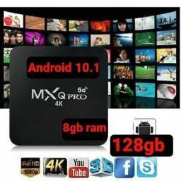 Título do anúncio: Tv box com aplicativos gratuitos Android 11 8gb ram 128gb