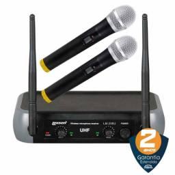 Título do anúncio: Microfone Sem Fio Duplo De Mão Uhf Lexsen - Profissional | Produto Novo - Loja Física