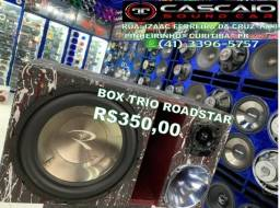 "Título do anúncio: som automotivo 1 sub roadstar 12"" 12 corneta tweeter box trio"