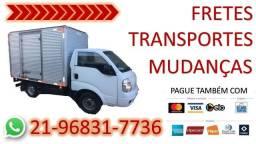 Fretes, transportes e mudanças