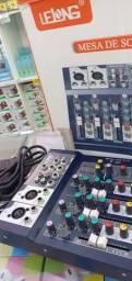Mesa Digital 4 Canais Profissional, Bluetooth, Usb com Efeitos
