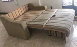Sofá cama casal com baú