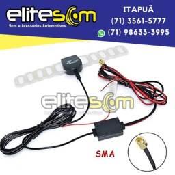 Antena Tv Digital Amplificada Automotiva Coaxial SMA na Elite Som