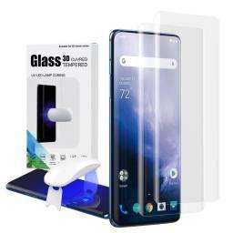 2 Películas curvas de vidro temperado UV OnePlus 7 Pro