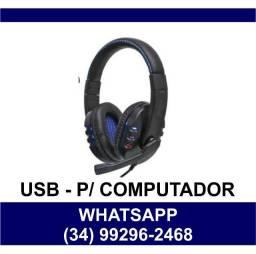 - Headfone para Computador com Plug Usb KP-359