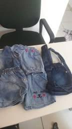 Lote menina ,roupas e calçados